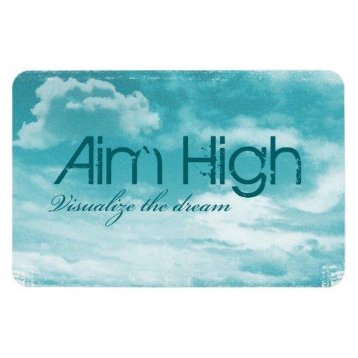 Aim High. Visualize The Dream. Vinyl Magnets