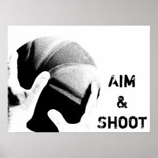 Aim & Shoot Poster