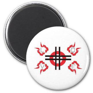 Aim & Target Love Fridge Magnet