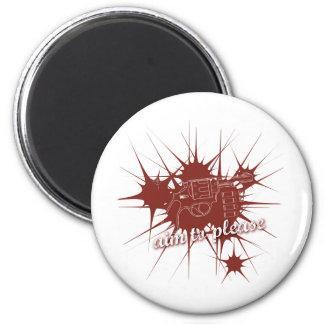 Aim To Please 6 Cm Round Magnet