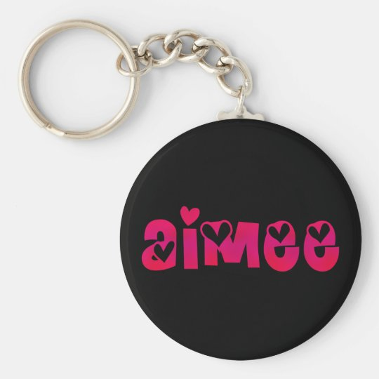 Aimee in Hearts Key Ring