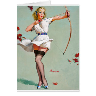 Aiming Pin Up Card