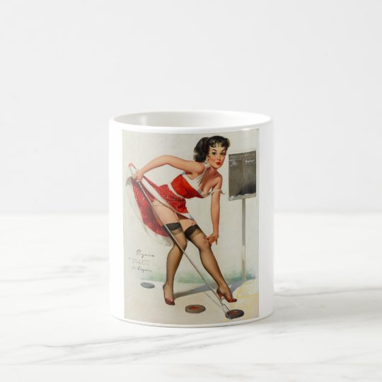Aiming to Please Pin Up Art Coffee Mug