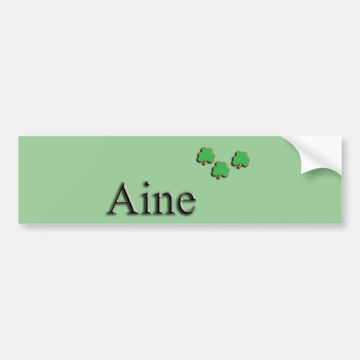 Aine Irish Bumper Stickers