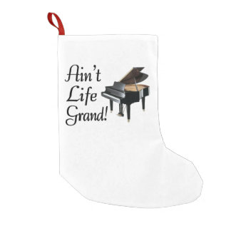 Ain't Life Grand Piano Small Christmas Stocking