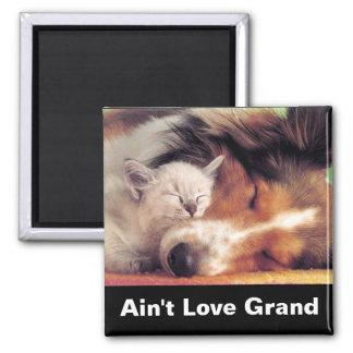 Ain't Love Grand Square Magnet
