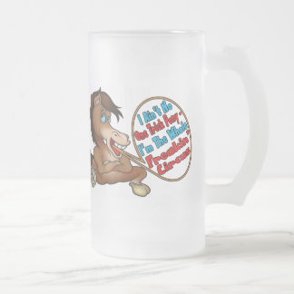 Ain't No One Trick Pony Frosted Glass Mug