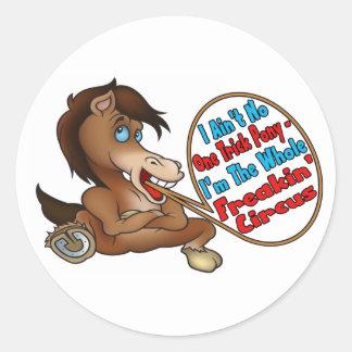 Ain't No One Trick Pony Round Sticker