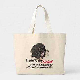 Aint No Saint Large Tote Bag