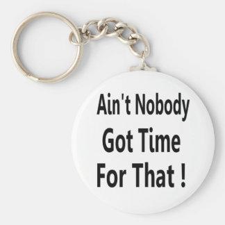 Ain't Nobody Got Time For That Meme Key Ring