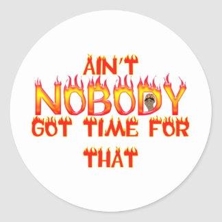 Ain't Nobody Got Time Sweet Brown Classic Round Sticker