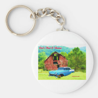 Aint That AShame 1956 Chevrolet Basic Round Button Key Ring