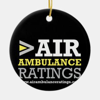 Air Ambulance and Medical Flight Company Ratings Christmas Ornament