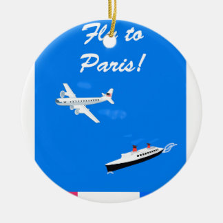Air and ship Vintage Travel Christmas Ornament