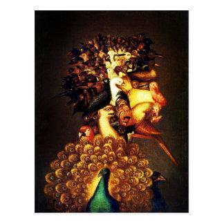 Air - Arcimboldo s bizarre head profile Postcards