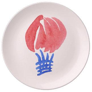Air Balloon 10.75'' Decorative Porcelain Plate