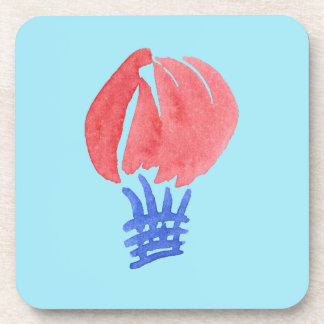 Air Balloon Hard Plastic Coasters