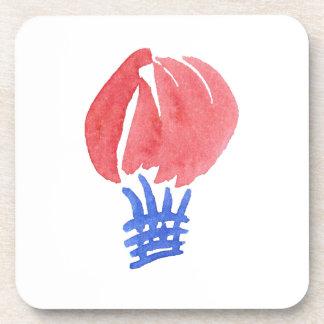 Air Balloon Hard Plastic Coasters