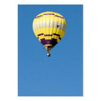 Air-balloon in blue sky business card template