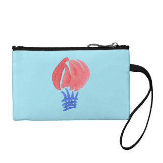 Air Balloon Key Coin Clutch