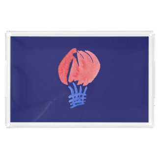 Air Balloon Large Rectangle Serving Tray