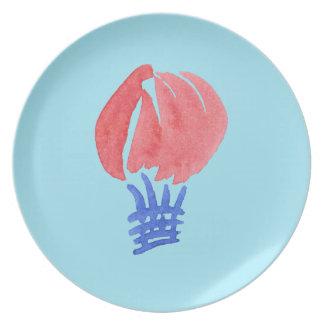 Air Balloon Melamine Plate