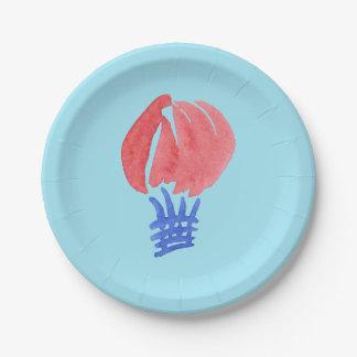 Air Balloon Paper Plates 7''