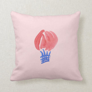 Air Balloon Polyester Throw Pillow 16'' x 16''