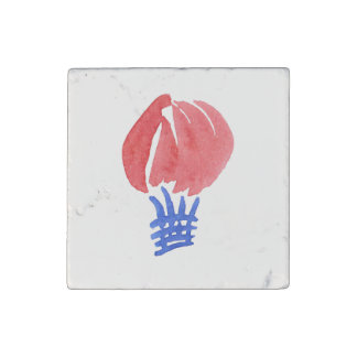 Air Balloon Primed Marble Stone Magnet