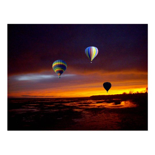 Air_Ballooning_At_Sunset,_ Postcard