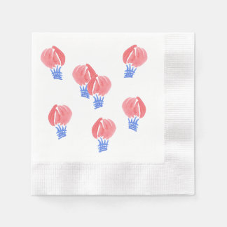 Air Balloons Coined Cocktail Paper Napkins