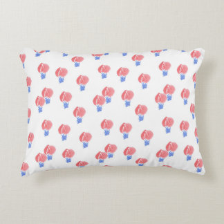 Air Balloons Cotton Accent Pillow