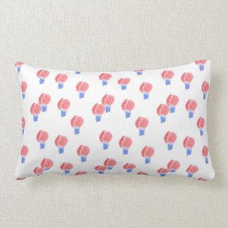 Air Balloons Cotton Throw Lumbar Pillow
