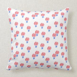 Air Balloons Cotton Throw Pillow 20''x20''