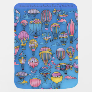 Air Balloons for Baby Baby Blanket