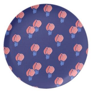 Air Balloons Melamine Plate