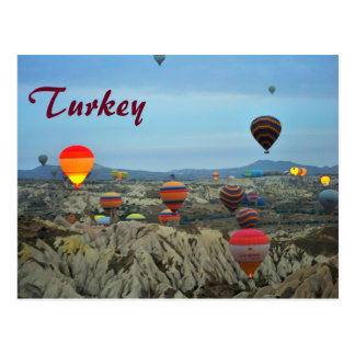 Air Balloons of Turkey Postcard