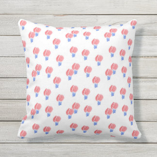 Air Balloons Outdoor Throw Pillow 16'' x 16''