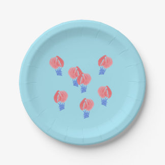 Air Balloons Paper Plate 7''