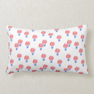 Air Balloons Polyester Throw Lumbar Pillow