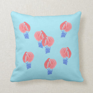 Air Balloons Polyester Throw Pillow 16'' x 16''