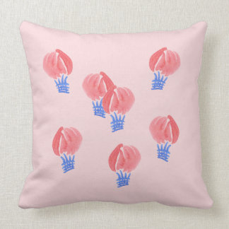 Air Balloons Polyester Throw Pillow 20'' x 20''