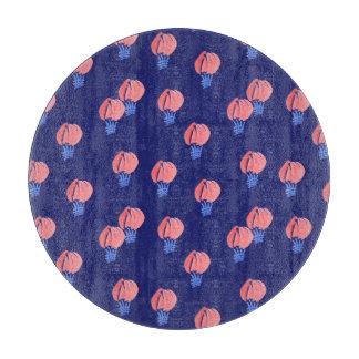 Air Balloons Round Glass Cutting Board