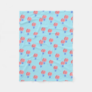 Air Balloons Small Fleece Blanket
