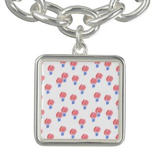 Air Balloons Square Charm Bracelet