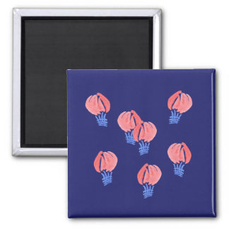 Air Balloons Square Magnet