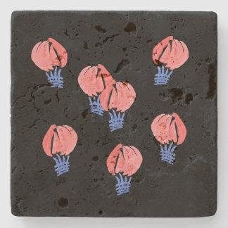 Air Balloons Travertine Stone Coaster