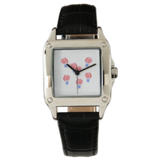 Air Balloons Women's Square Leather Watch