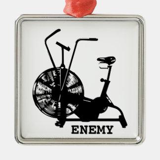 Air Bike Enemy - Black Silhouette Christmas Ornament