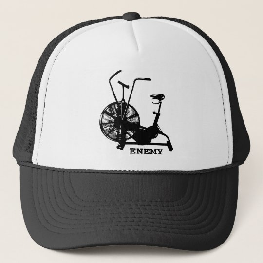 Air Bike Enemy - Black Silhouette Trucker Hat
